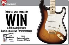 Câștigați un Fender Stratocaster 60th Anniversary Commemorative Edition