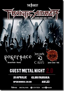 Afis - Guest Metal Night 2.0 - 21 aprilie