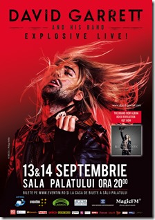 David Garrett, 13 & 14 septembrie