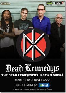Dead Kennedys pe 3 Iulie în Quantic din București