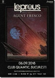 Leprous & Agent Fresco în Quantic pe 6 Septembrie