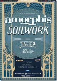 Amorphis, Soilwork și Jinjer pe 22 Ianuarie la Arenele Romane