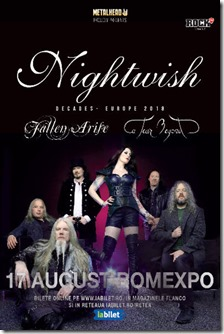 Nightwish 20 de ani la Romexpo pe 17-August