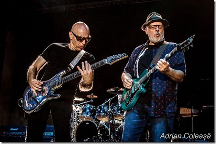 Joe Satriani & Mike Keneally la Arenele Romane, by Adrian Coleașă, 2018