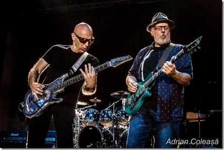 Joe Satriani & Mike Keneally la Arenele Romane, by Adrian Coleașă, 2018