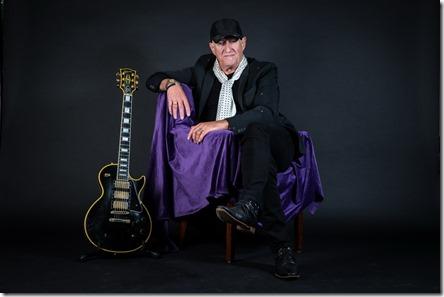 15-8-2019 Volendam. Portret van de Nederlandse gitarist Jan Akkerman. Copyright Paul Bergen